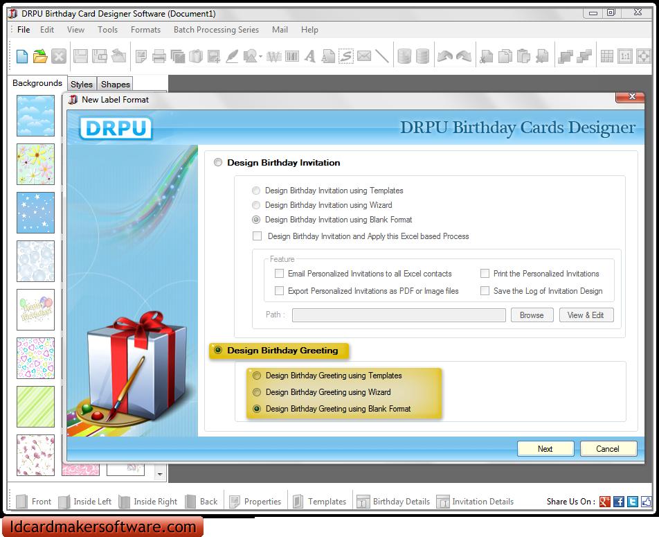 Screenshots of birthday card maker software to create birthday birthday cards maker software screenshots m4hsunfo