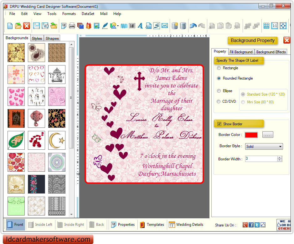 Wedding Card Design Software Name