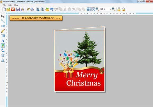 Screenshot of Greeting Card Design